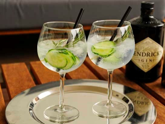 Hendricks Gin And Tonic Glass Caterhire